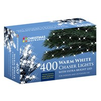 400 LED Warm White Chaser Lights