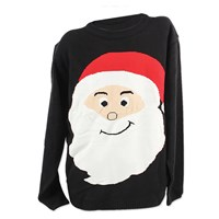 Xmas Jumper Navy- Santa Face