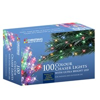 100 LED Chaser Lights - Multi Coloured