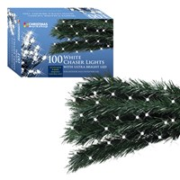 100 White LED Chaser Lights