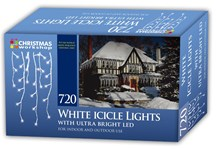 720 LED Icicle Chaser Lights- White