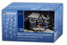 720 LED Icicle Chaser Lights-Blue & White
