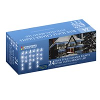 24 LED Icicle Chaser Lights Blue