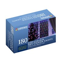 180 LED Net Chaser Lights - Multi Coloured