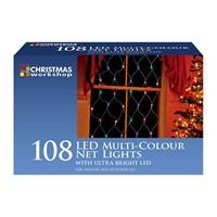 108 LED Static Net Light- Multi Coloured