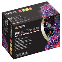 600 LED Battery Operated Timer Lights-Multi Colour