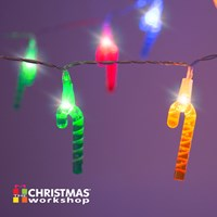 20 LED Coloured Cane String Lights