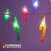 20 LED Coloured Cane String Lights
