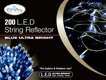 200 Blue LED Reflector Lights