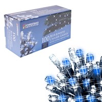 100 LED Chaser lights - White & Blue