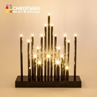 28CM 20 LED Black Star Candle Bridge - Warm White