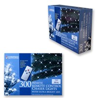 300 LED Remote Control Chaser Lights -White