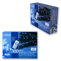 300 LED Remote Control Chaser Lights W/Timer-Blue