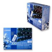 300 LED R/C Chaser Lights W/Timer-Blue & White