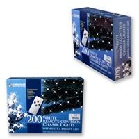 200 LED R/C Chaser Lights W/Timer - White