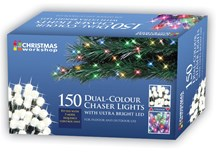 150 LED Dual Chaser Lights-W.White/Multi Coloured