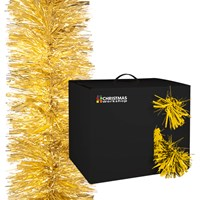 10M Gold Tinsel Garland