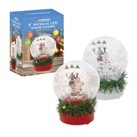 "8"" Musical LED Snow Globe W/Swirling Snow"