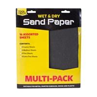 16pk Wet Or Dry Sandpaper Sheets