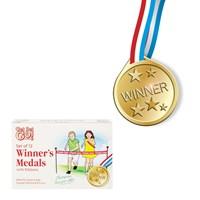 12pc Sports Medals w/Ribbon