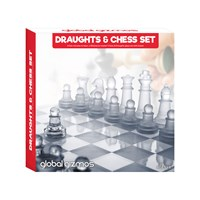 2-in-1 Chess & Draughts Set