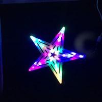 30cm 20LED Coloured Window Light - Star