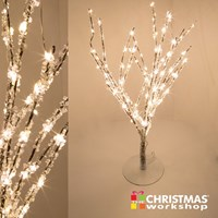60cm 90LED BO Copper Wire Crystal Tree - W.White