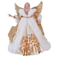 "12"" Gold&Cream Tree Top Angel"