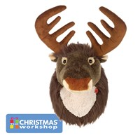 34CM Plush Singing Reindeer Head