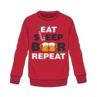 Mens  Xmas Eat Sleep Beer Repeat Jumper