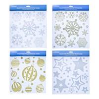 Glitter Window Stickers-4 Assorted