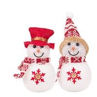 EVA LED Snowmen W/Hats-2Ass