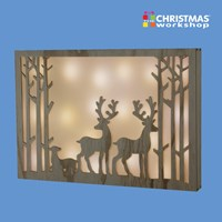 Reindeer Silhouette 20 LED Frame