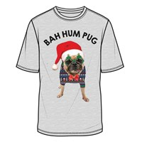 Men Bah Hum Pug T-Shirt