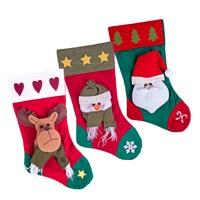 3 Assorted Xmas Stocking