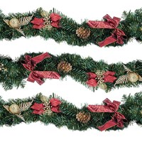 9ft Red Poinsettia Garland