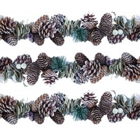 160cm Frosted Cone Garland
