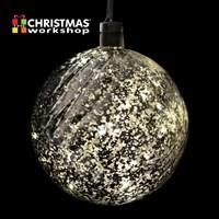 20cm LED Ball. Includes 8 Warm White LED'S
