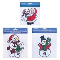 Snowman/Santa Window Gel Stickers