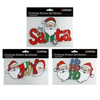 Xmas Sign Window Gel Stickers