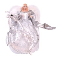 "12"" White & Silver Tree Top Angel"