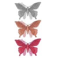 Glitter Butterfly Decoration- 3 Ass