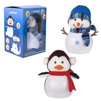 "7"" LED Flashing -Snowman/Penguin"