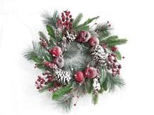 "22"" Red Berry W/Snow Wreath"