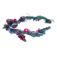 5ft Red Berry W/Snow Garland