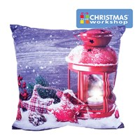 Christmas LED Cushion - Seasonal Lantern