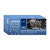 180 Icicle Chaser Lights - White