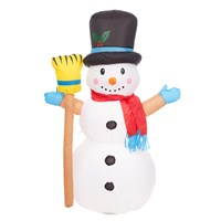 4FT Outdoor Inflatable Snowman - Twinkle LED