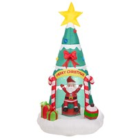 6 Inflatable Xmas Tree House w/Disco Lights