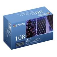 108 LED Static Net Lights - W.White